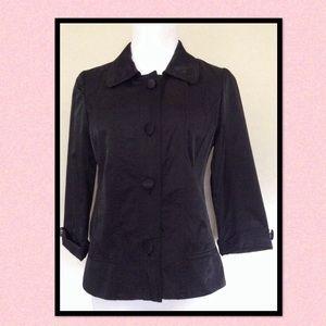 Chico's Black Sateen Jacket